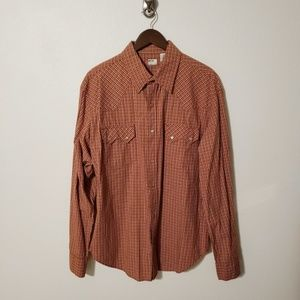 Levi's Red Tab Gingham Sawtooth Western Shirt